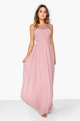 Outlet Little Mistress Pink Maxi Dress