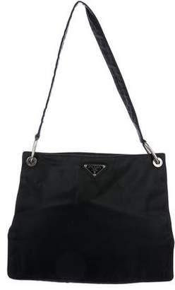 3ff9aa5bfc96 ... free shipping pre owned at therealreal prada tessuto nylon messenger bag  8a5a0 246ac