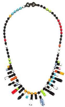 Tom Binns Neon Painted Crystal Collar Necklace
