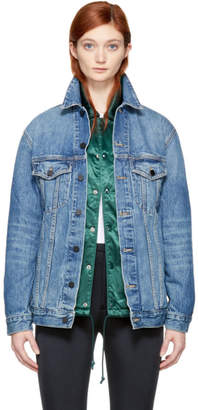 Alexander Wang Blue Oversized Denim Daze Jacket