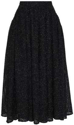 Emilia Wickstead Metallic Brushed Open-knit Midi Skirt