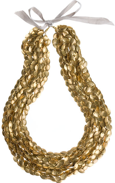 Golden Disc Necklace by Vera Wang