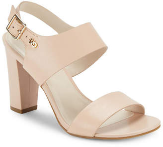 Cole Haan Octavia Block-Heel Leather Sandal