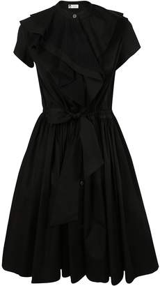 Lanvin Ruffled & Pleated Dress