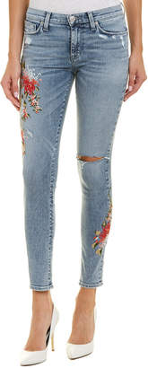Hudson Nico Light Floral Ankle Super Skinny Leg