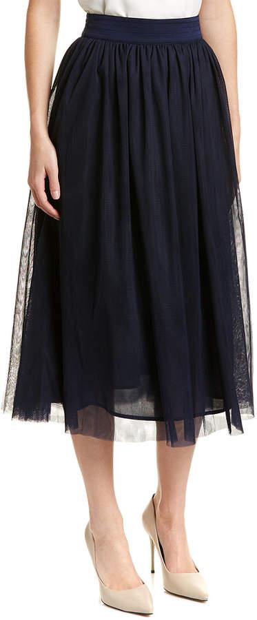 Trina Turk Floris Silk-Blend A-Line Skirt