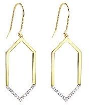 India Hicks Small Open Geometric Earrings with Diamonds