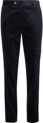 Brunello Cucinelli Indigo Sea Island Cotton-Corduroy Trousers