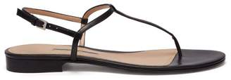 Emme Parsons Cecilia T Bar Strap Leather Sandals - Womens - Black