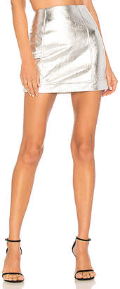 h:ours Greta Leather Mini Skirt