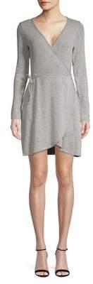 Lord & Taylor Design Lab Hacci Long Sleeve Wrap Dress