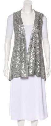 Calypso Sleeveless Wool Cardigan