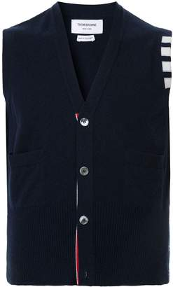 Thom Browne knitted V-neck cardigan