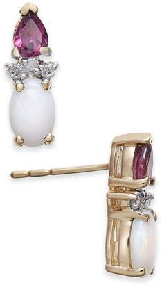 Macy's Multi-Gemstone (1 ct. t.w.) & Diamond Accent Stud Earrings in 14k Gold