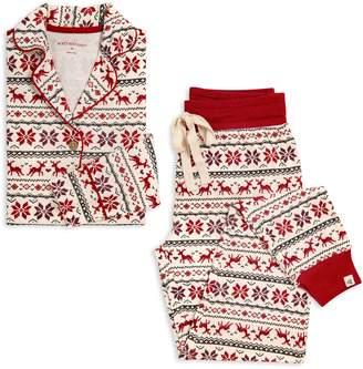Burt's Bees Dashing Deer Organic Womens Holiday Matching Family Pajamas