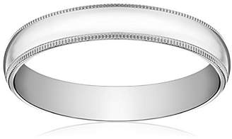 Standard Comfort-Fit 14K White Gold Milgrain Band
