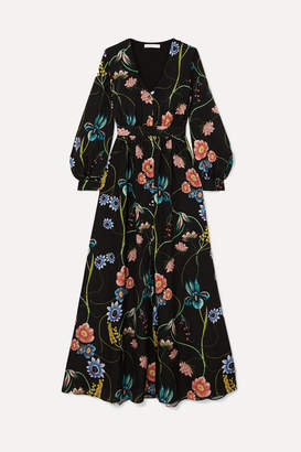 Borgo De Nor Francesca Floral-print Crepe De Chine Maxi Dress
