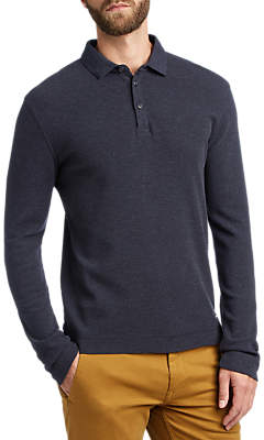 HUGO BOSS BOSS Prix Long Sleeve Polo Shirt, Dark Blue
