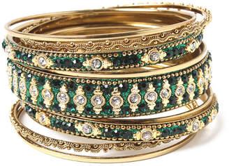 Amrita Singh Set Of 9 Crystal Bangles