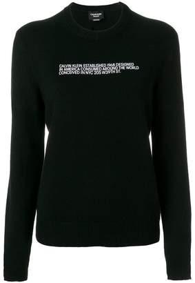 Calvin Klein cashmere slogan jumper