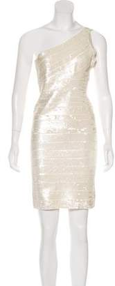 Herve Leger Pauline Embellished Dress