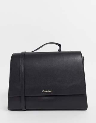 Calvin Klein top handle satchel bag