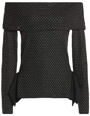 Roland Mouret Off-the-shoulder Wool-blend Sweater