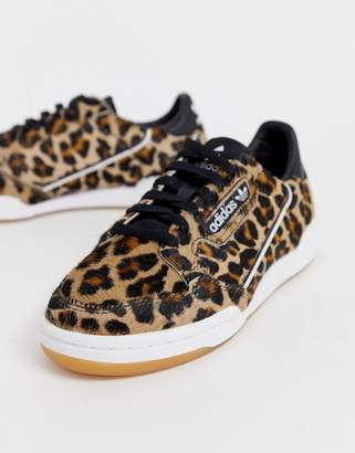 75e4725908f adidas Continental 80 sneakers in leopard print