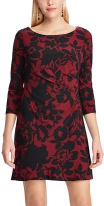 Chaps Plus Size Floral Pleated Dress