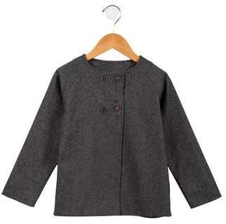 C de C Girls' Wool-Blend Metallic-Accented Jacket