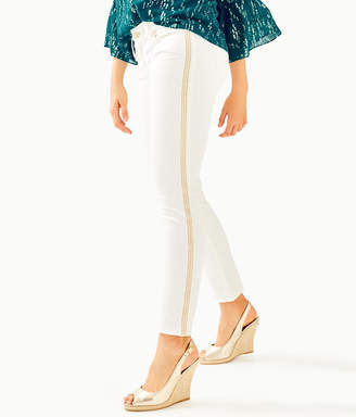 "Lilly Pulitzer 31"" Worth Skinny Jean - Sateen With Side Seam Trim"