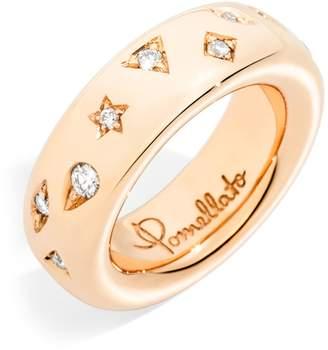 Pomellato Narrow Rose Gold and Diamond Iconica Ring