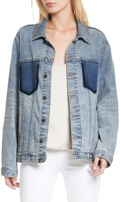 L'Agence Karina Shadow Pocket Denim Jacket