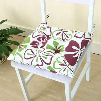 PiccoCasa Canvas Cover Cashmere Universal Chair Cushion Pads with Ties