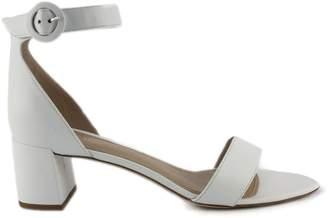 6654165f1c4 Aldo Castagna White Leather High-heel Ginevra Sandals