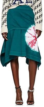 Calvin Klein Women's Tie-Dyed Denim Peplum Skirt