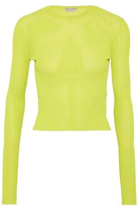 Emilio Pucci Neon Ribbed-Knit Top
