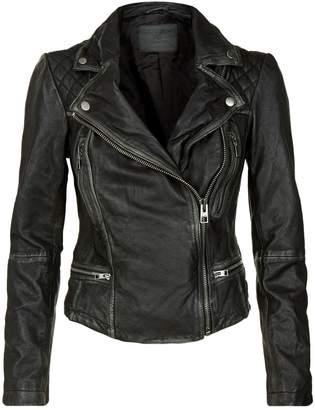 AllSaints Cargo Leather Biker Jacket