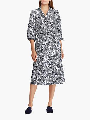 47fa49d995 Ralph Lauren Polo Alixandra Floral Print Shirt Dress