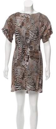 Rag & Bone Animal Print Silk Dress