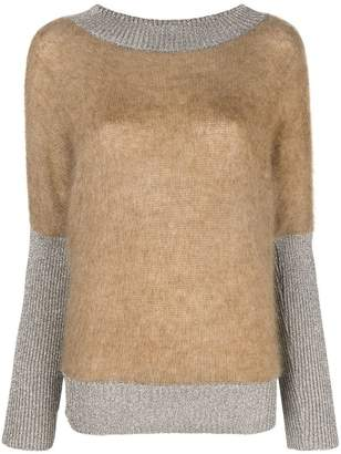 Alberta Ferretti lurex-trim sweater