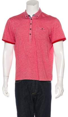 Ted Baker Woven Short Sleeve Polo