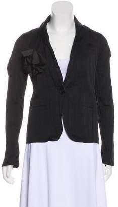 Lanvin Silk Flower-Accented Blazer