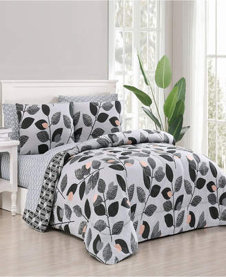 Geneva Home Fashion Kenna 5-Pc Twin Bed in a Bag Bedding