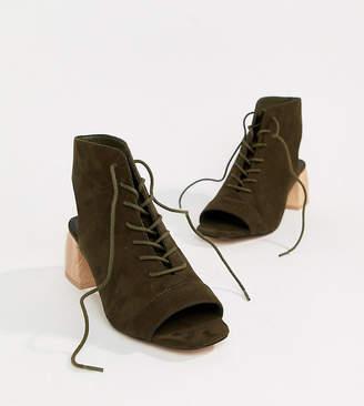 Asos Design DESIGN Rascal Wide Fit Lace Up Shoe Boots