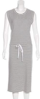 Theory Striped Midi Dress