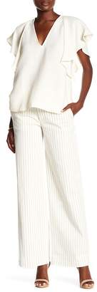 Rachel Roy Stripe Wide Leg Trousers