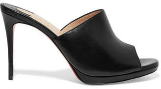 Christian Louboutin Pigamule 100 Leather Mules - Black
