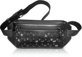 Jimmy Choo Oscar Black Leather Belt Bag w/Stars