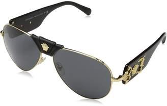 Versace VE2150Q - 100287 /Black Aviator Sunglasses 62mm